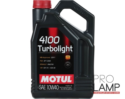 MOTUL 4100 Turbolight 10W-40 - 4 л.